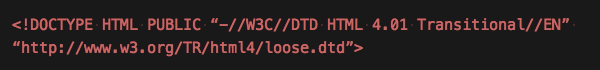 html4のdoctype