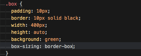box-sizingプロパティにborder-boxを追加