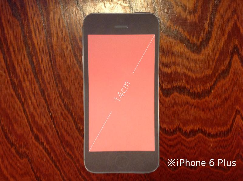 iphone6plusは14cm